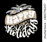 happy winter holidays  season... | Shutterstock .eps vector #1883796247