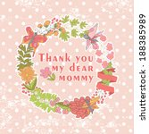 stylish floral cards thanks... | Shutterstock .eps vector #188385989