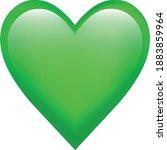 green heart emoji symbol of love | Shutterstock .eps vector #1883859964