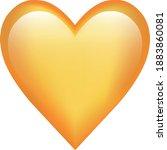 orange heart emoji symbol of...   Shutterstock .eps vector #1883860081