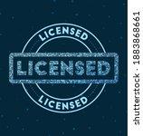 licensed. glowing round badge.... | Shutterstock .eps vector #1883868661