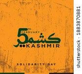 5 february kashmir day... | Shutterstock .eps vector #1883870881