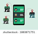 omnichannel inventory... | Shutterstock .eps vector #1883871751