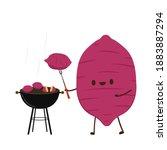 sweet potato character design....   Shutterstock .eps vector #1883887294