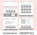 website design desktop... | Shutterstock .eps vector #1883895361