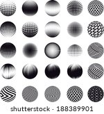 set of abstract vector spheres  | Shutterstock .eps vector #188389901