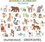 cartoon animals alphabet for... | Shutterstock .eps vector #1883926981