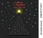 merry christmas and happy new...   Shutterstock .eps vector #1883927407