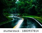 Serpentine Country Road In...