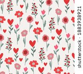 Floral Valentine's Day Seamless ...