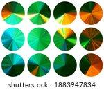 green radial metallic gradient...
