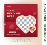 social media post template for... | Shutterstock .eps vector #1883959141