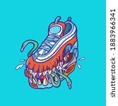 here it is monster shoes... | Shutterstock .eps vector #1883966341