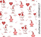 seamless cute pattern with... | Shutterstock .eps vector #1883968117