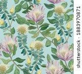 flowers bloom seamless vector... | Shutterstock .eps vector #1883970871