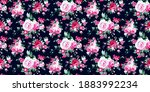 seamless pattern with vintage... | Shutterstock .eps vector #1883992234