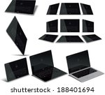 vector tablet multiple views  ... | Shutterstock .eps vector #188401694