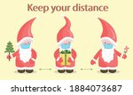 keep your distance vector... | Shutterstock .eps vector #1884073687