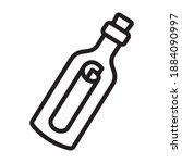 message or letter in a bottle... | Shutterstock .eps vector #1884090997