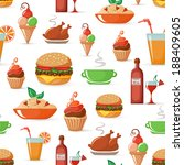 food seamless pattern eps10 | Shutterstock .eps vector #188409605