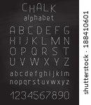 chalk grunge font. vector white ...