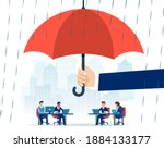 vector of a hand holding big... | Shutterstock .eps vector #1884133177