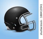 black football helmet vector... | Shutterstock .eps vector #188413541