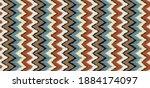 ikat border. geometric folk...   Shutterstock .eps vector #1884174097