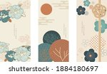 japanese background with asian... | Shutterstock .eps vector #1884180697