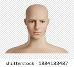 vector 3d human model with face ... | Shutterstock .eps vector #1884183487