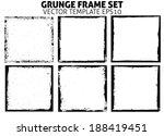 grunge frame set. vector... | Shutterstock .eps vector #188419451