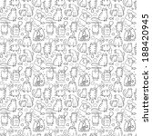 funny cartoon sketch cats... | Shutterstock .eps vector #188420945