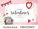 happy valentine's day design...   Shutterstock .eps vector #1884250837