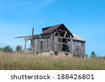 An Old Dilapidated Wood Barn I...