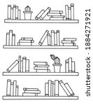 Doodle Style Bookshelves For...