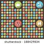 set of 180 flat family... | Shutterstock .eps vector #188429834
