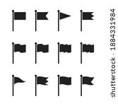 waving flag icons set.different ... | Shutterstock .eps vector #1884331984