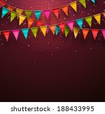 festive background with flags ... | Shutterstock .eps vector #188433995