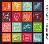 vector internet marketing icons ... | Shutterstock .eps vector #188434379