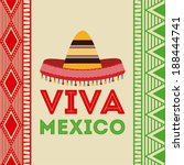 Mexico design over colorful background, vector illustration - stock vector