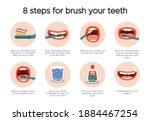 dental hygiene infographic....   Shutterstock . vector #1884467254