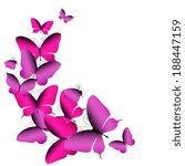 butterflies design   Shutterstock .eps vector #188447159