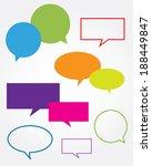 colorful vector speech bubble... | Shutterstock .eps vector #188449847