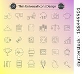 thin line icons for web and... | Shutterstock .eps vector #188449901