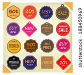set of labels. | Shutterstock .eps vector #188450969