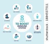 eight ways to boost immune... | Shutterstock .eps vector #1884537511