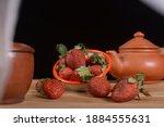 Fresh Strawberry Fruit Pile...