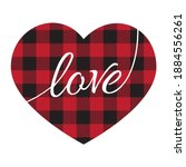 Buffalo Plaid Heart Design....