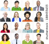 Small photo of Portrait of Multiethnic Colorful Diverse People