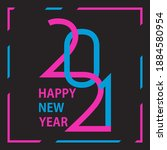 2021 happy new year background. ...   Shutterstock .eps vector #1884580954